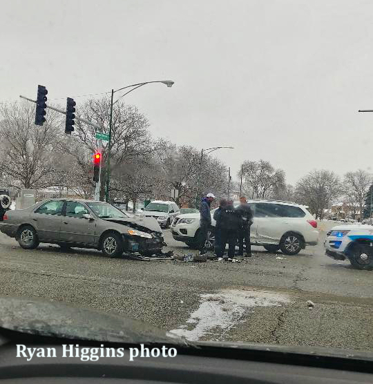 crash in intersection