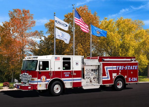 new Pierce fire engine for the Tr-State FPD in Illinois