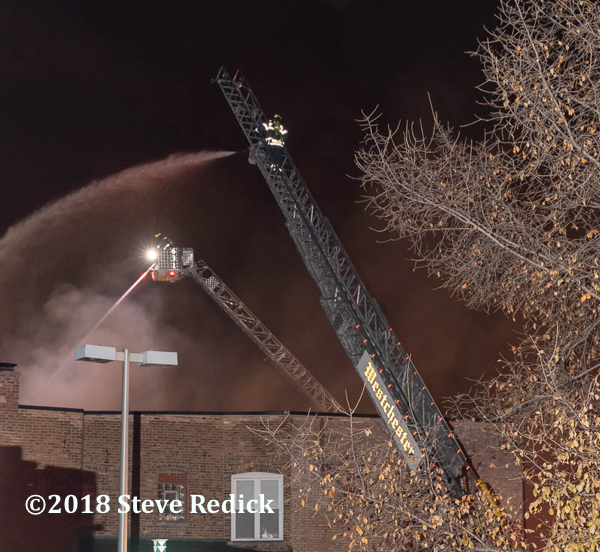 elevated master streams work at fire