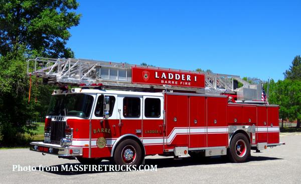 Barre FD Ladder 1 formerly Evergreen Park FD Truck 44