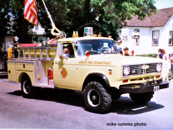 Crete FD vintage fire truck