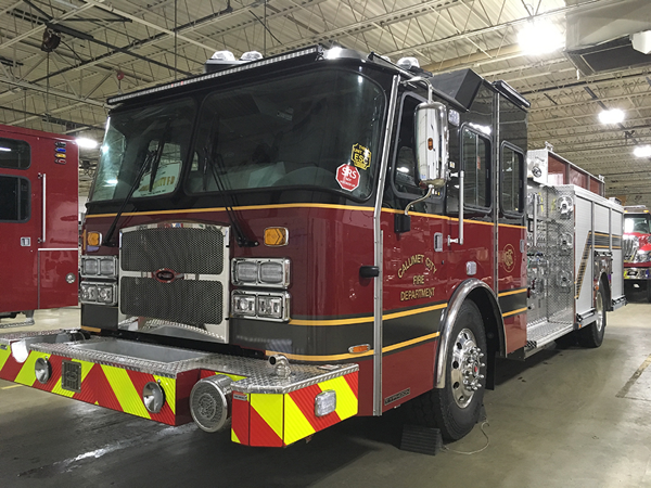 new e-ONE fire engine for Calumet City FD in Illinois