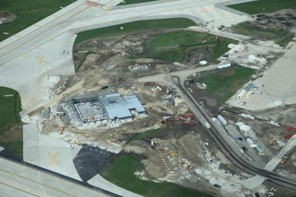 new fire station at O'Hare airport under construction