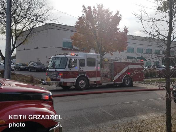 fire scene in Arlington Heights