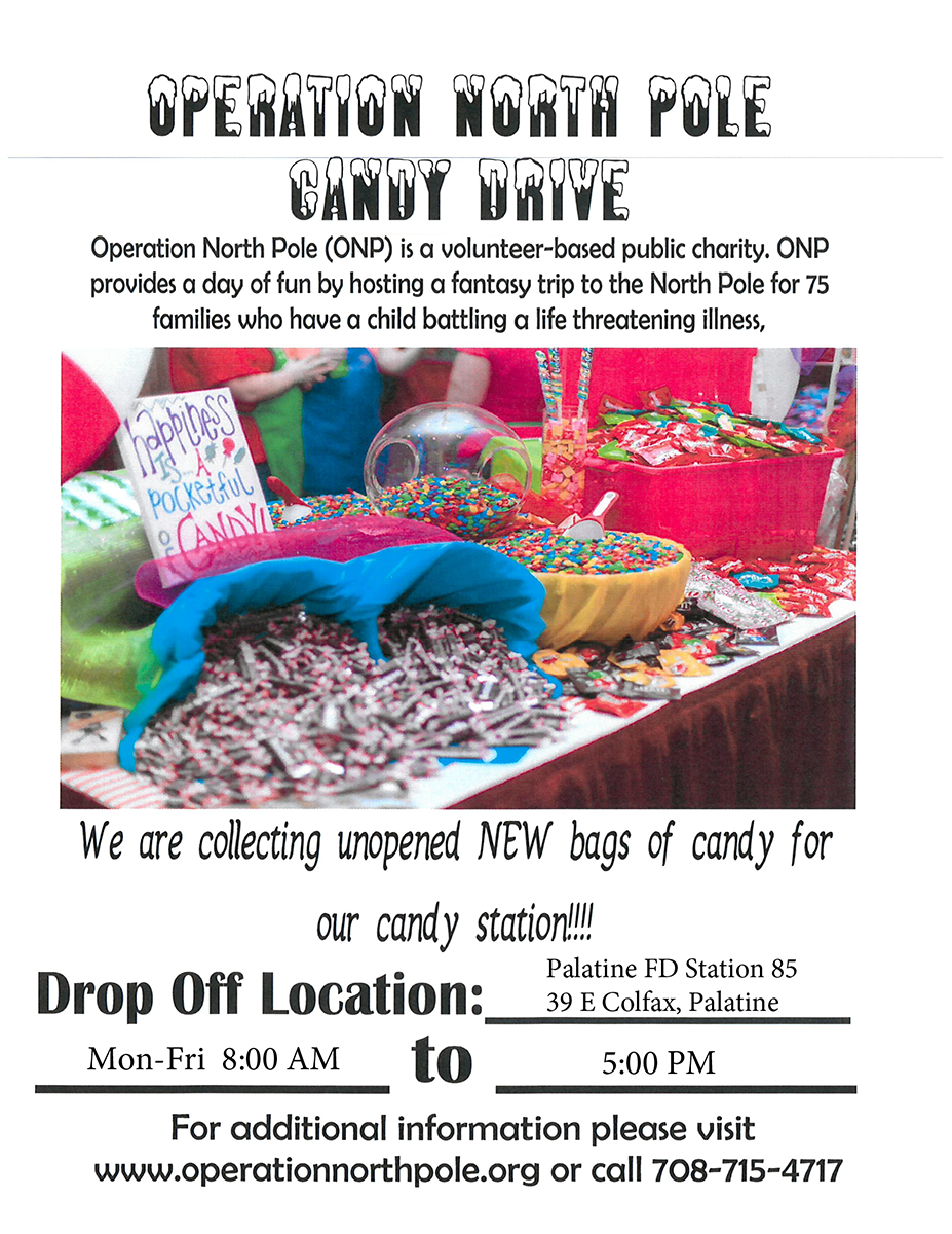 Palatine Fire Department- Operation North Pole Candy Drive