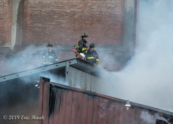 Chicago Firefighters at a fire scene