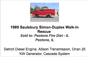 1989 Saulsbury Simon-Duplex Walk-In Rescue
