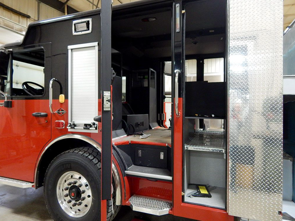 Alexis Fire engine being built for the Carol Stream Fire Distric