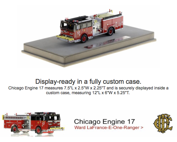 Chicago FD Engine 17 replia model