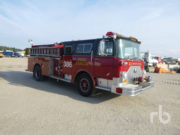 1975 MACK Fire Truck - Serial Number CF611F1732 for sale by auction