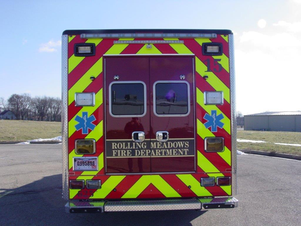 chevron striping on ambulance rear