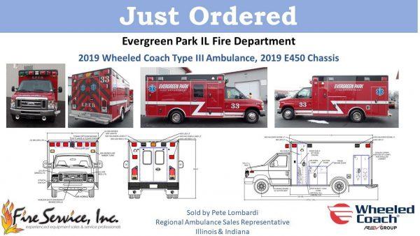 Drawing of new Wheeled Coach Type III ambulance