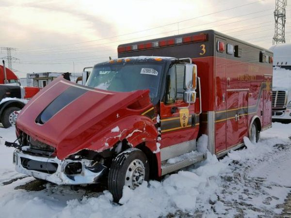 damaged Former Lockport Township FPD ambulance  for sale by auction