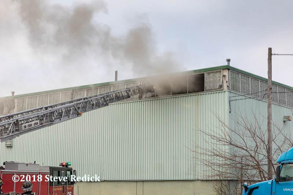 smoke from warehouse during a fire