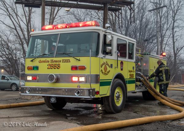Garden Homes FD fire engine at scene