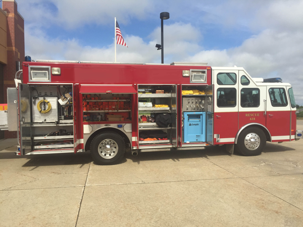 Marengo FPD in Illinois purchased a used E-ONE heavy rescue squad