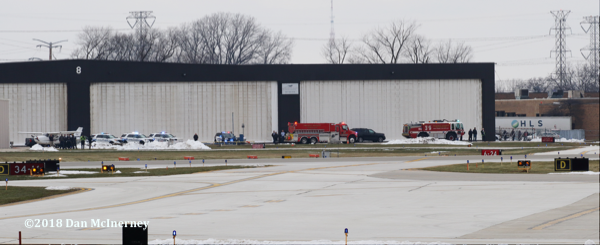 Prospect Heights FPD and Wheeling FD units standby at Chicago Executive Airport