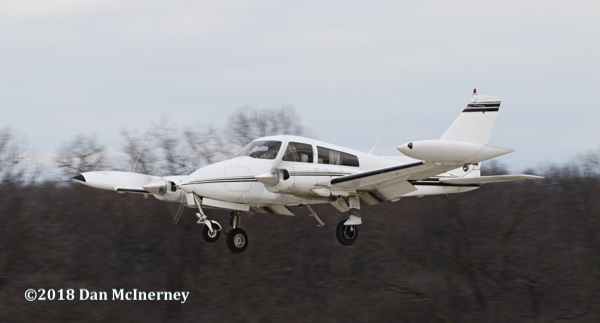 Cessna 310 landing with unlocked front nose gear
