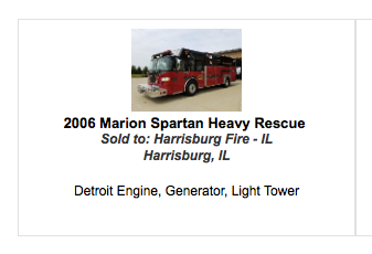 2006 Spartan Gladiator Evolution Marion heavy rescue squad