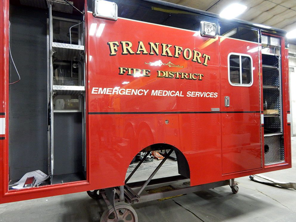 ambulance body refurbished for new chassis