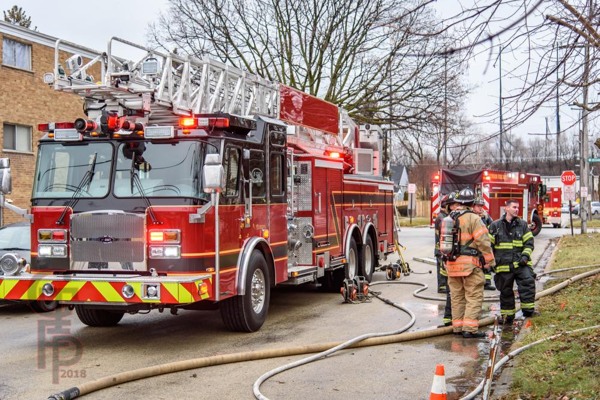 new E-ONE aerial ladder quint in Maywood IL