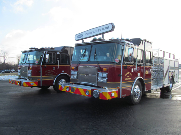 new fire engines for the Calumet City FD