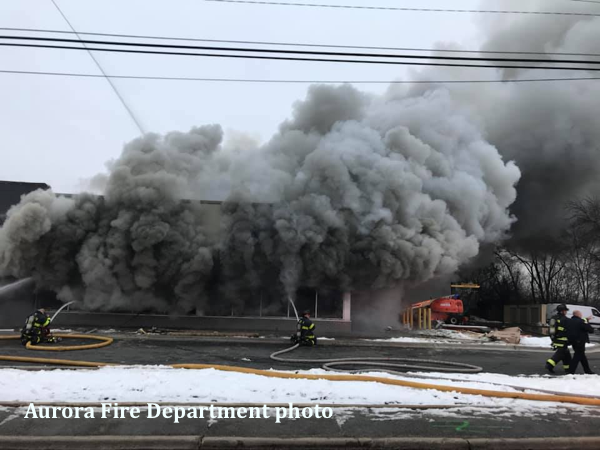 fire destroys a McDonald's restaurant that was being remodeled