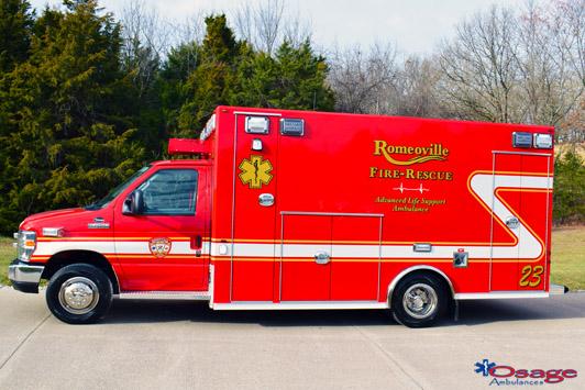 New Romeoville FD ambulance by Osage Ambulance