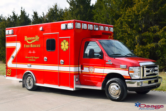 New Romeoville FD ambulance by Osage Ambulance