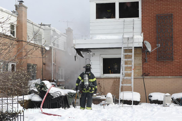 fire in Niles IL townhouse