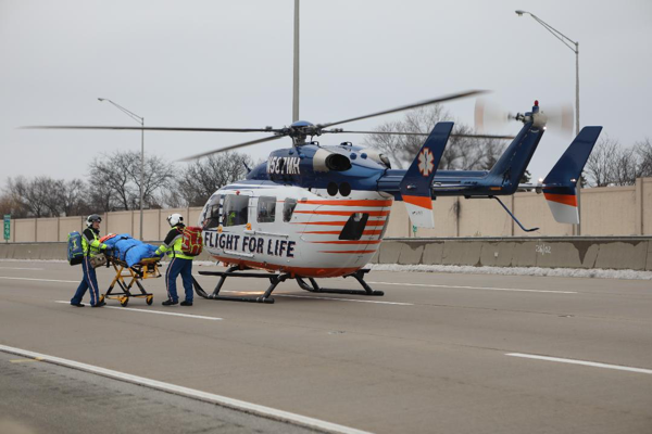 Flight For Life medical helicopter landing