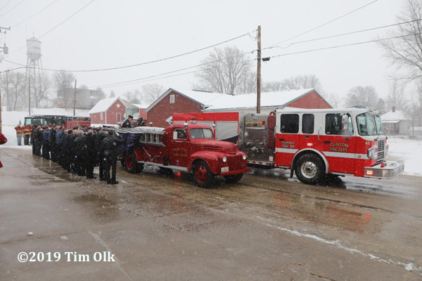 Funeral for Clinton Fire Department. Lt. Eric Hosette