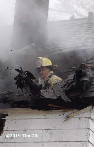 Bartlett & Countryside FPD Fire Chief Michael Falese at a fire scene