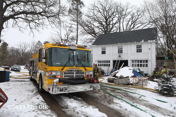 Pingree Grove & Countryside FPD fire engine at fire scene