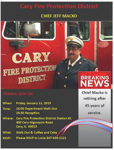 Retirement of Cary FPD Chief Jeffrey Macko