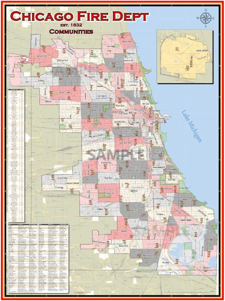 Chicago FD map of stations and companies
