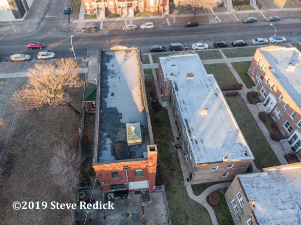 drone photo of former Chicago FD Engine 61 firehouse