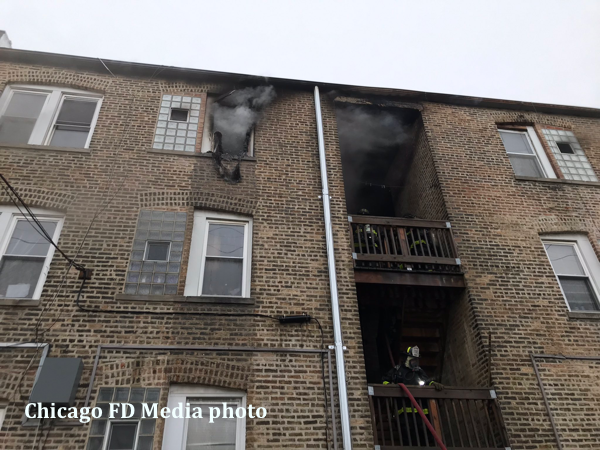 fatal fire in a 3-story courtyard building in Chicago