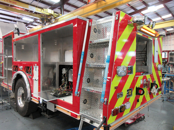 new E-ONE fire truck so#141741 for the Orland Fire District