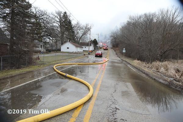 LDH large diameter hose supply line in street