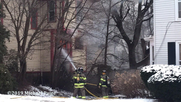 house fire in Elgin IL on Park Street