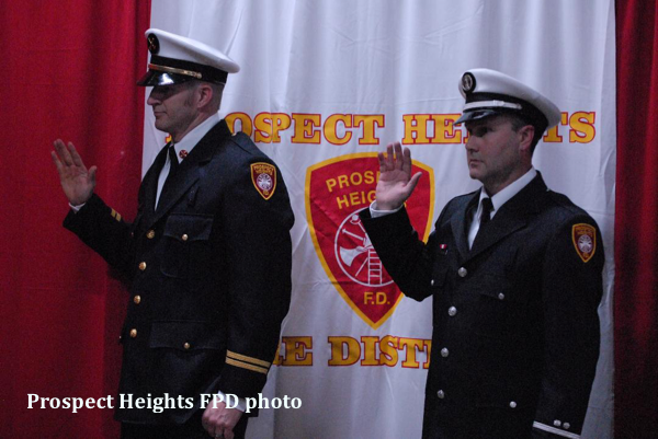 swearing in of new Prospect Heights FPD officers