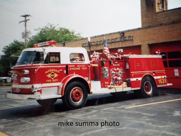 Markham FD Engine 1531 - 900 Series American LaFrance pumper