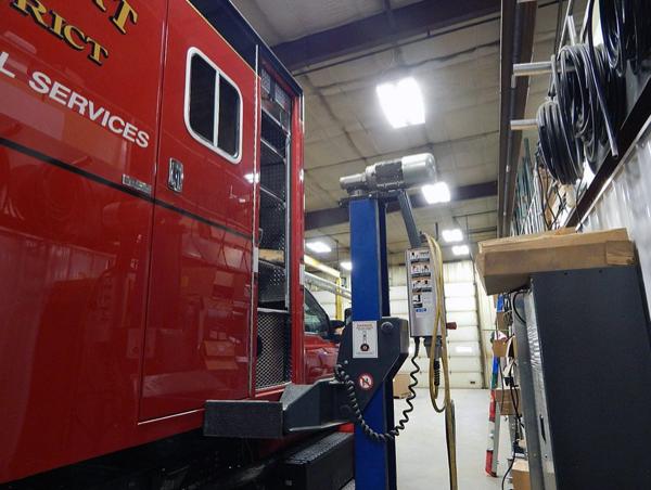 Frankfort FPD ambulance being rebuilt