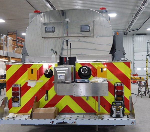water tanker/tender being built for the Pingree Grove & Countryside FPD