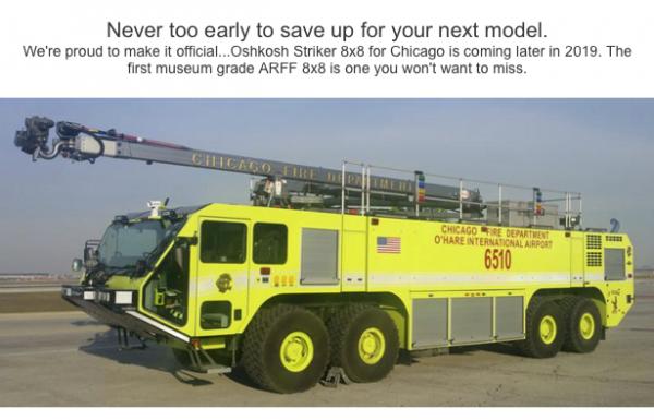 Fire Replicas Model Oshkosh 8x8 ARFF