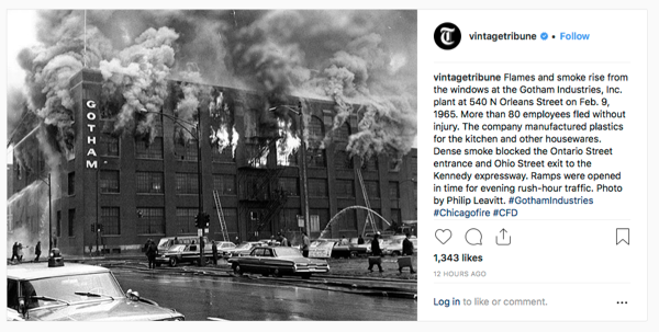historic Chicago fire photo Gotham Industries