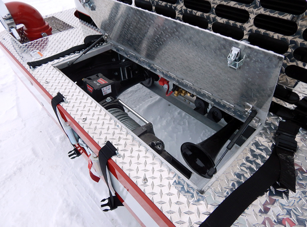 fire engine front bumper compartment