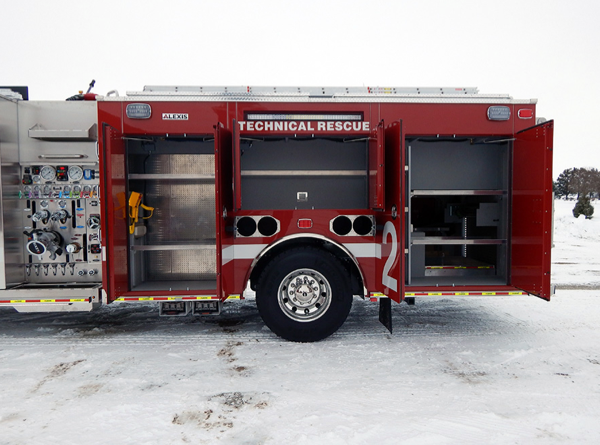 new fire engine compartments