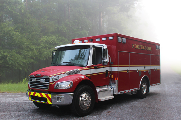 2018 Freightliner M2 rescue unit for the Northbrook FD